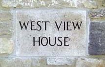 image: West View House name